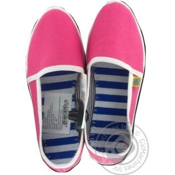 Тапочки жіночі Канвас рожеві Олдком розмір 37