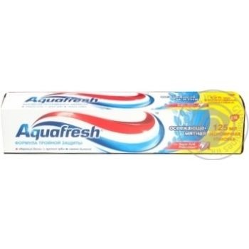 Зубная паста Aquafresh Освежающая мятная 125мл - купить, цены на Novus - фото 3