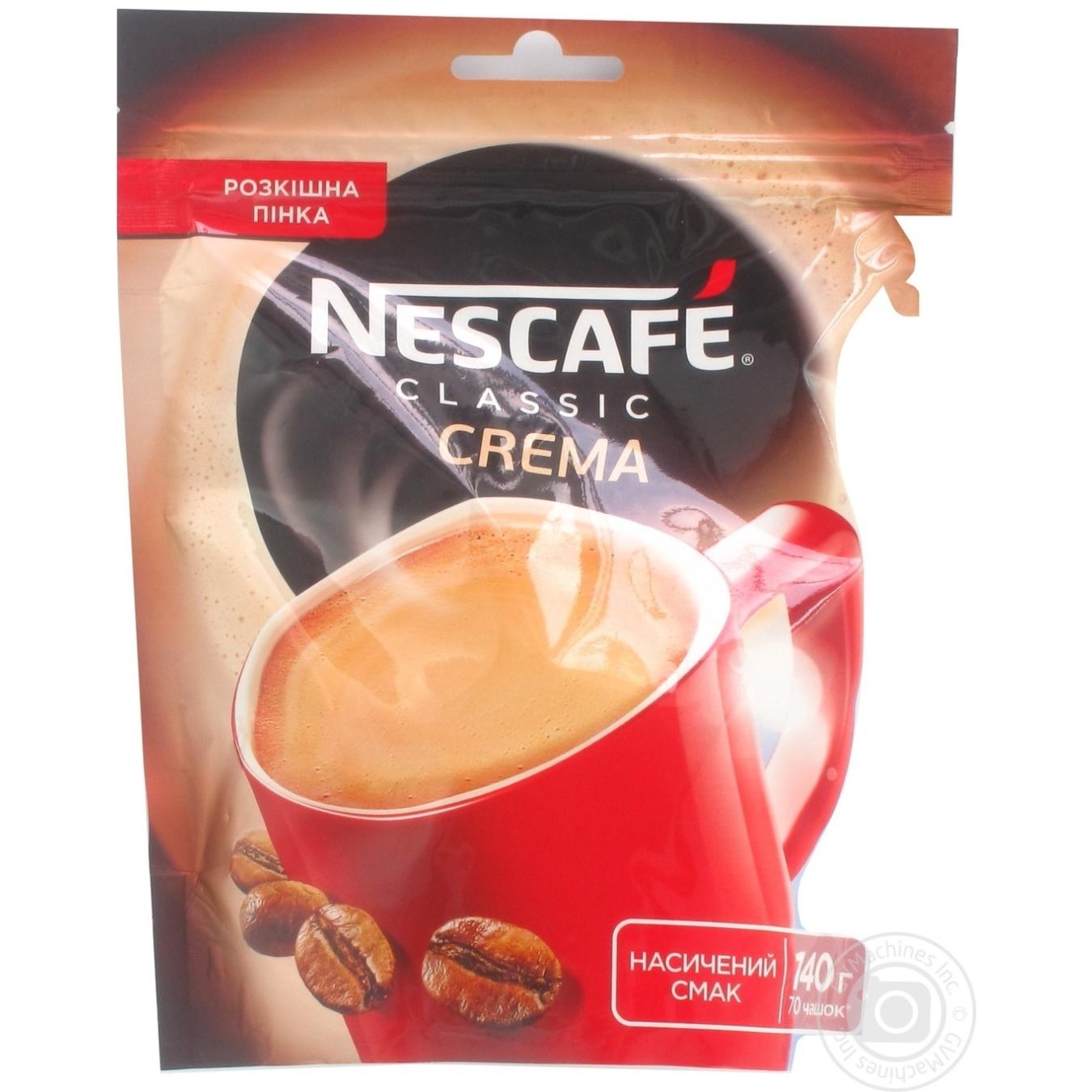 Natural instant coffee Nescafe Classic Crema 140g Ukraine → Drinks, 18+ → Coffee → Instant ...