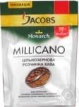 Кофе Якобс Монарх Мелликано натуральный растворимый сублимированный с частичками обжареный зерен 70г дой-пак Украина