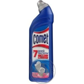 Гель Comet Весенняя свежесть 7 дней чистоты для чистки туалета 750мл - купить, цены на Novus - фото 3