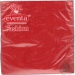 Серветка столова P&D Eventa Fashion 33*33 трьохшарові тиснення.однотонні бордо