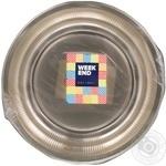 Тарелка Weekend прозрачная пластик 20,5см 10шт/уп