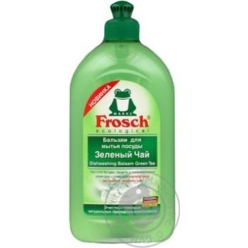 Бальзам для мытья посуды Frosch Зеленый чай 500мл - купить, цены на МегаМаркет - фото 1