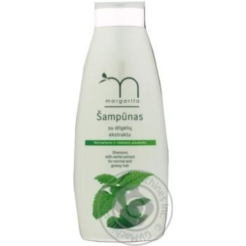 Шампунь з екстрактом кропиви для нормального і жирного волосся Margarita 500мл