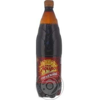 non-alcoholic pasteurized fermented drink made of natural raw grain Kvass Yarilo Original plastic bottle 1000ml Ukraine