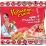 Арахіс смажений солений зі смаком бекону Козацька Слава 35г