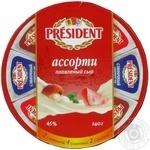 Сыр Президент Асорти плавленый 45% 140г Россия