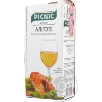 Picnic Aligote White Dry Wine 9.5-13% 1l - buy, prices for Novus - image 2