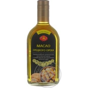 Oil Golden kings of ukraine with walnuts unrefined 350ml glass bottle