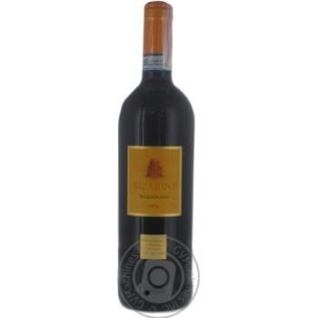 Вино Sizarini Bardolino DOC красное сухое 11,5% 0,75л
