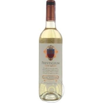 Вино Prestigium Cuvee speciale біле напівсолодке 10,5% 0,75л