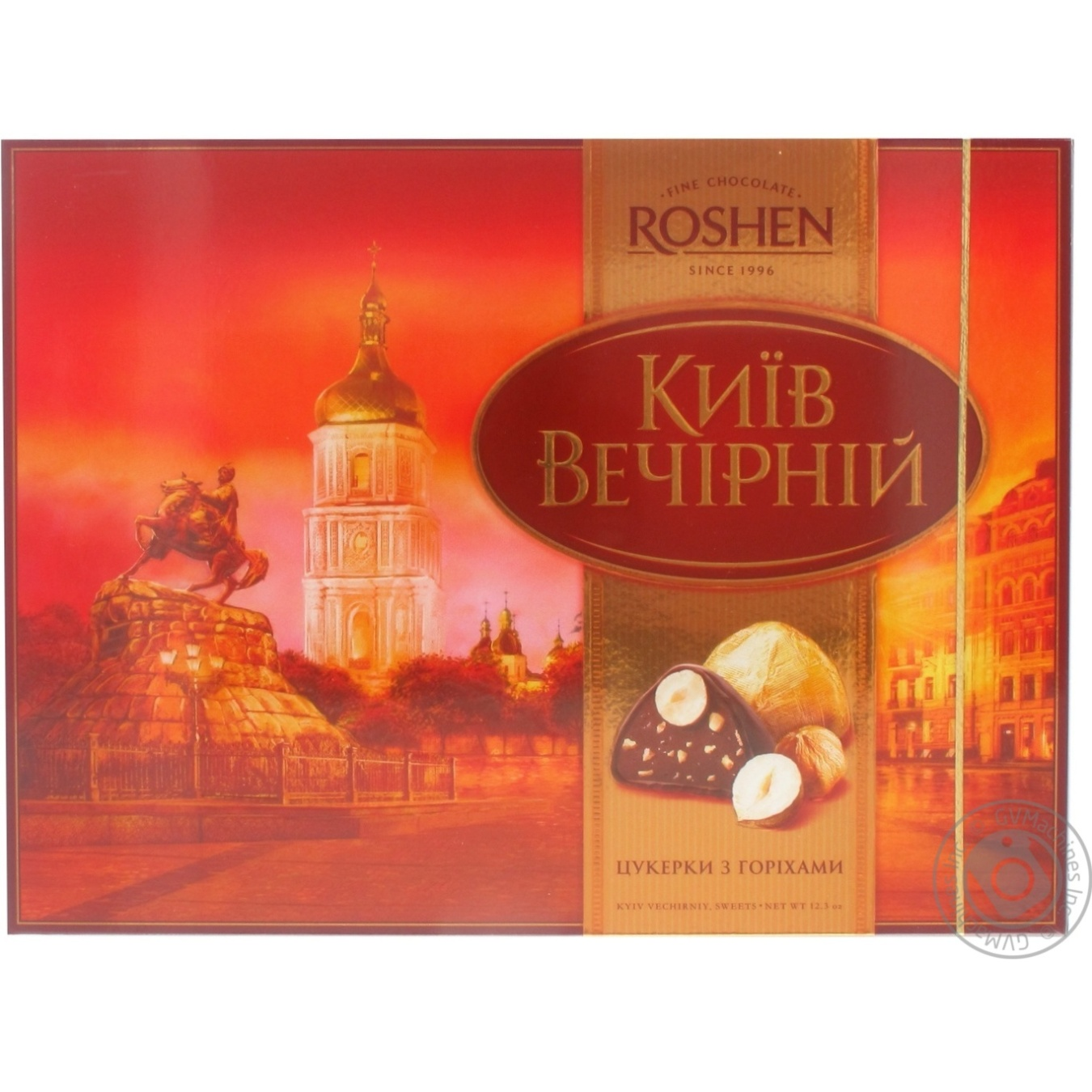 Candy Roshen Kyiv vechirniy chocolate with nuts with filling 348g ...