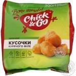 Філе куряче шматочки в полімерному пакеті в газі Chick&Go 300г