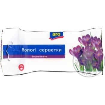 Салфетки влажные Aro Весенние цветы 10шт