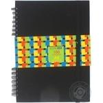 Блокнот Economix А5 100 листов на резинке ассорти