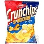 Чіпси картопляні Crunchips 2-sides зі смаком вершкового масла і солі Lorenz 140г
