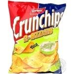 Чіпси картопляні Crunchips 2-sides зі смаком йогурту і кропу Lorenz 140г