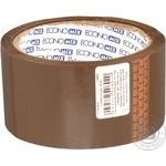 Лента Economix клейкая упаковочная коричневая 48ммx50м