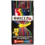 Лента Фиксель фиксирующая для проводов 5 цветов 160х13мм 5шт