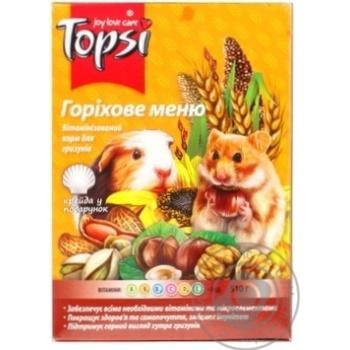 Корм Topsi Ореховое меню для грызунов 510г - купить, цены на Novus - фото 1