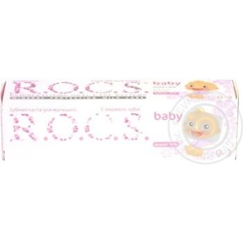 Зубная паста для малышей R.O.C.S. аромат липы 45г - купить, цены на МегаМаркет - фото 4