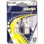Лампа Narva 17916 P21/5W BAY15d 12V блістер 2шт арт. 268181