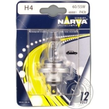 Лампа Narva 48881 H4 60/55W P43t 12V блістер 1шт арт. 315175