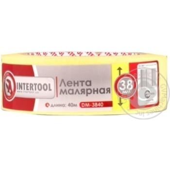 Лента малярная Intertool желтая 38мм 40м DM-3840