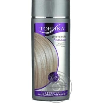 Бальзам для волосся Тоніка 9.12 відтінковий з ефектом біоламінування Холодна ваніль флакон 150мл