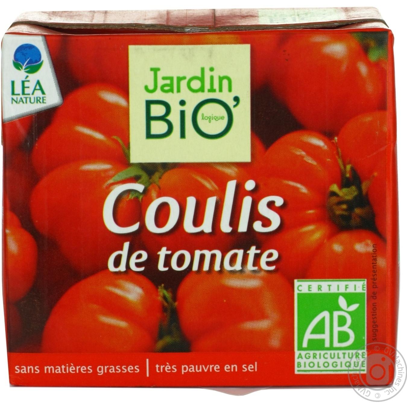 sauce jardin bio tomato 500ml - Jardin Bio