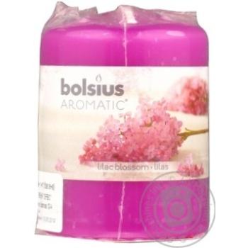 Свічка циліндрична Bolsius аромат бузок 80/60мм