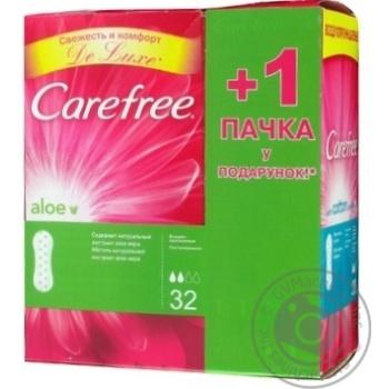 Ежедневные прокладки Carefree Алое 32шт + 20шт