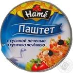 Pate Hame liver 100g can Czech republic