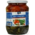 Асорті Аро з огірків і томатів консервоване 720мл Україна
