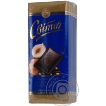Шоколад чорний особливий з горіхом Світоч 95г