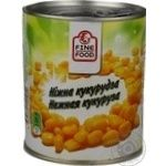 Vegetables corn Fine food canned 850ml can Thailand