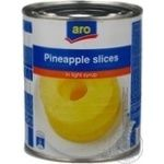Aro Slices In Light Syrup Pineapple