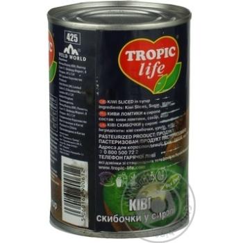 Ківі Tropic Life скибочки в сиропі 425г - купити, ціни на Фуршет - фото 5