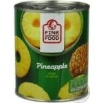 Fruit pineapple Fine food ring 820g can Thailand