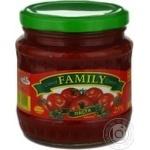 Паста томатная Фемили томат 25% 460г стеклянная банка Украина