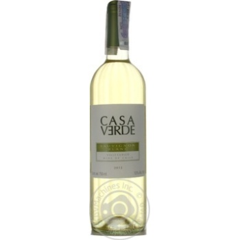 Casa Verde Sauvignon Blanc white dry wine 12% 0,75l