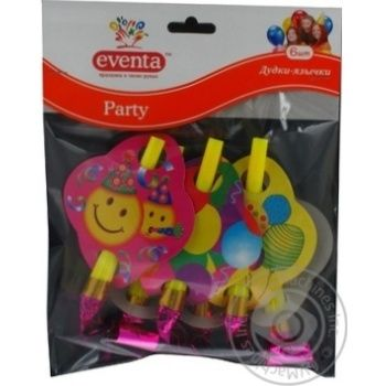 Дудки-язычки Eventa пластиковые с декором 6шт - купить, цены на Novus - фото 8