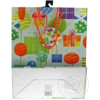 Пакет бумажный Хеппиком GBLE12/1/1 33х26см - купить, цены на Novus - фото 3