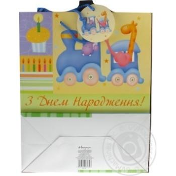 Пакет бумажный Хеппиком GBLE12/1/1 33х26см - купить, цены на Novus - фото 4