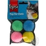 Іграшка для тварин Topsi М'ячі губчасті 4шт