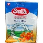 Lollipop Sula Nature's favor sea-buckthorn sugar free for diabetics 60g packaged Russia