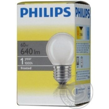 Philips Incandescent Lamp P45 60w E27 - buy, prices for Novus - image 1