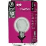 Лампа куля General Electric прозора 60Вт цоколь Е27