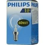 Лампа Philips Р45 кульова прозора 60w Е14